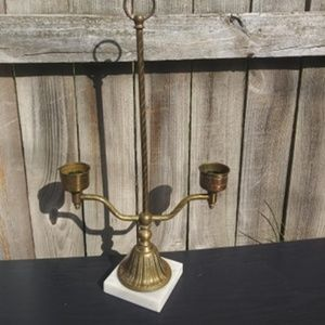 Vintage Brass Large Candle holder Double sided